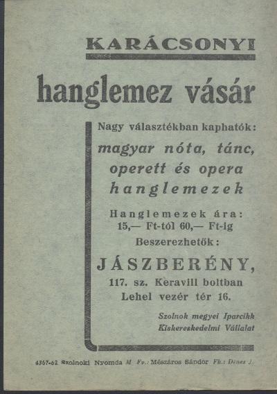 922fd83fd3 Magyar Nemzeti Digitális Archívum • Karácsonyi hanglemez vásár ...