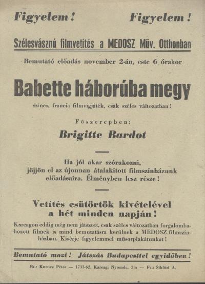 Babette háborúba megy