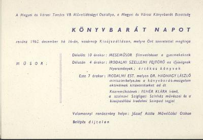 Könyvtárbarát nap a kisújszállási József Attila Művelődési Otthonban
