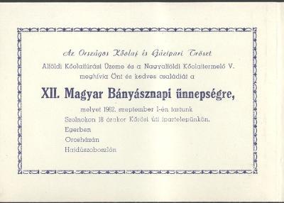 XII. Bányásznapi ünnepség