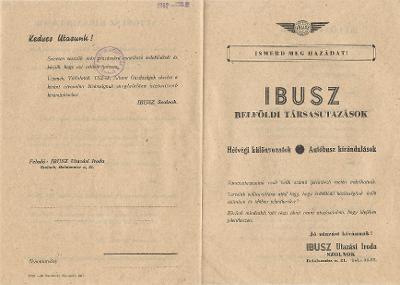 IBUSZ Utazási Iroda tájékoztatója