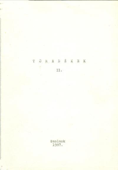 Töredékek II címlapja
