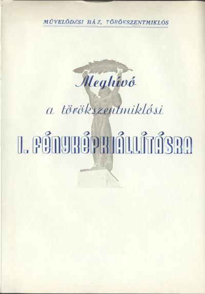 I. törökszentmiklósi fényképkiállítás