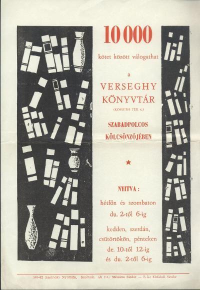 10000 kötet között válogathat a Verseghy Ferenc Könyvtár szabadpolcos kölcsönzőjében!