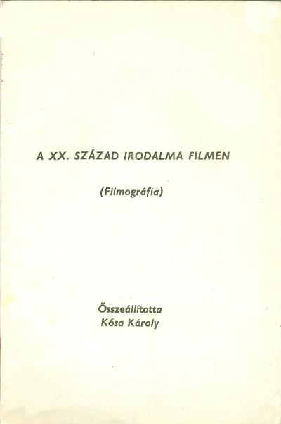XX. század irodalma filmen
