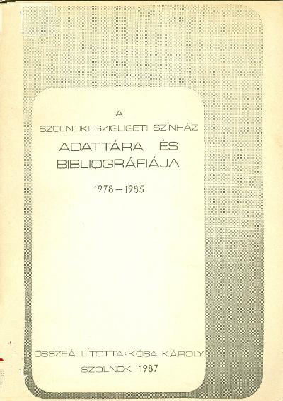 Szigligeti Színház bibliográfiája