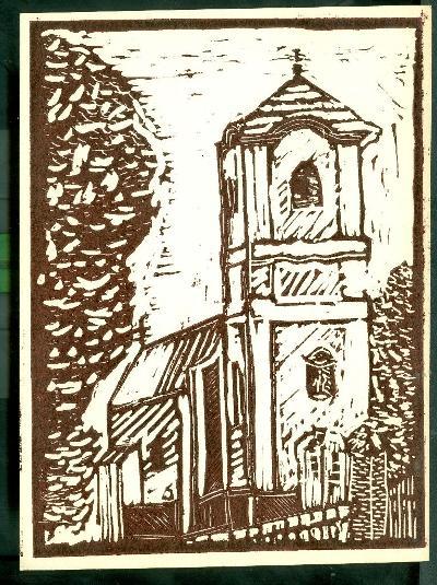 Jászfelsőszentgyörgy, Római Katolikus Templom Magyarország gyermekszemmel linómetszetekben Szávai István és a Szolnoki Metszőkör