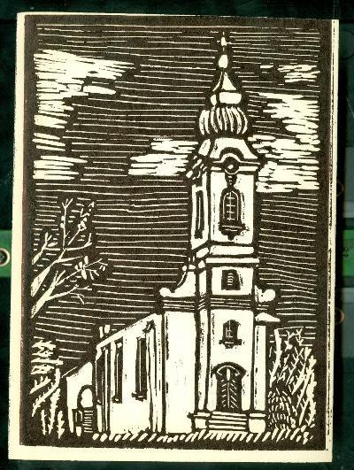 Kuncsorba, Római Katolikus Templom Magyarország gyermekszemmel linómetszetekben Szávai István és a Szolnoki Metszőkör