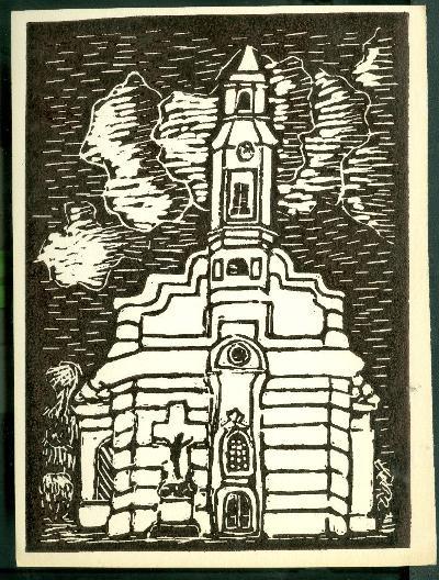 Tiszapüspöki, Római Katolikus Templom Magyarország gyermekszemmel linómetszetekben Szávai István és a Szolnoki Metszőkör