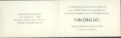 Tablóbáli meghívó