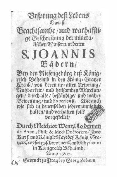 Lodgman, Melchior Wentzl 1707.