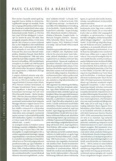 Paul Claudel és a bábjáték