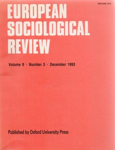 European Sociological Review