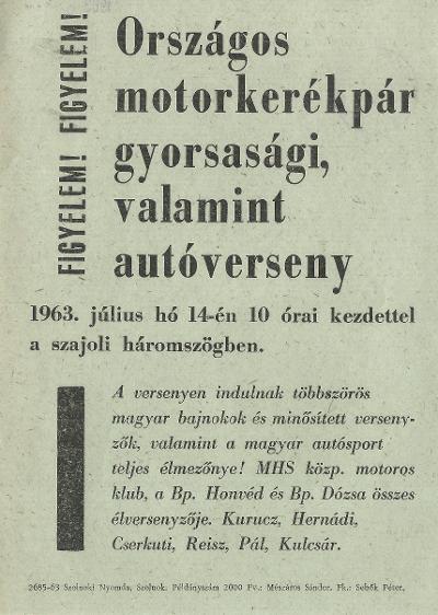 Országos motorkerékpár gyorsasági, valamint autóverseny