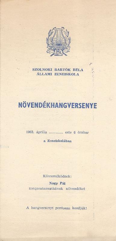 Bartók Béla Állami Zeneiskola növendékhangversenye