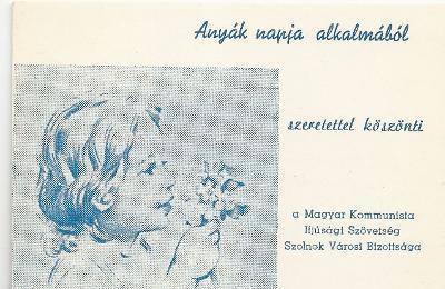 Anyák napi köszöntőkártya