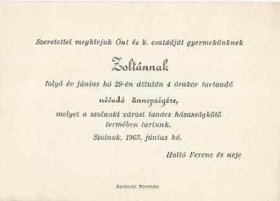 Holló Zoltán névadó ünnepélye
