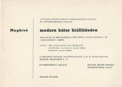 Bútor kiállítás
