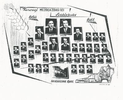 A karcagi Mezőgazdasági Szakiskola tablóképe