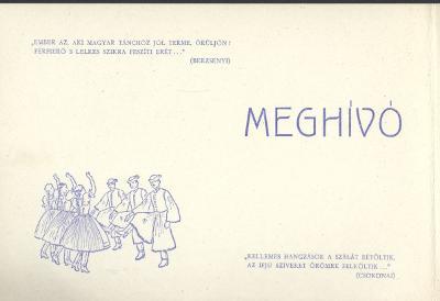 Meghívó a Tisza Táncegyüttes által rendezendő táncosok báljára