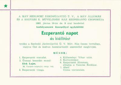 Eszperantó nap és kiállítás