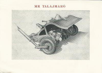 MR Talajmaró főbb műszaki adatai