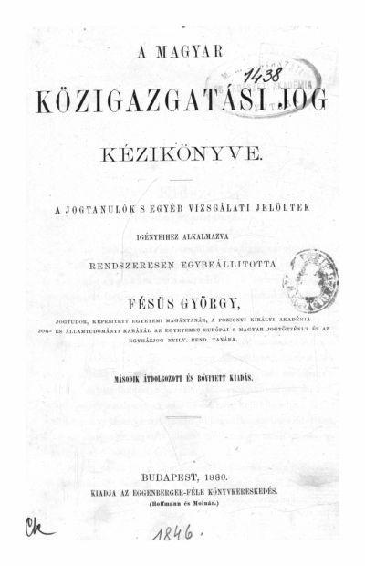 Fésüs György 1880