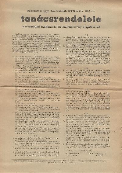 2/1963 (IX. 27.) sz. tanácsrendelet