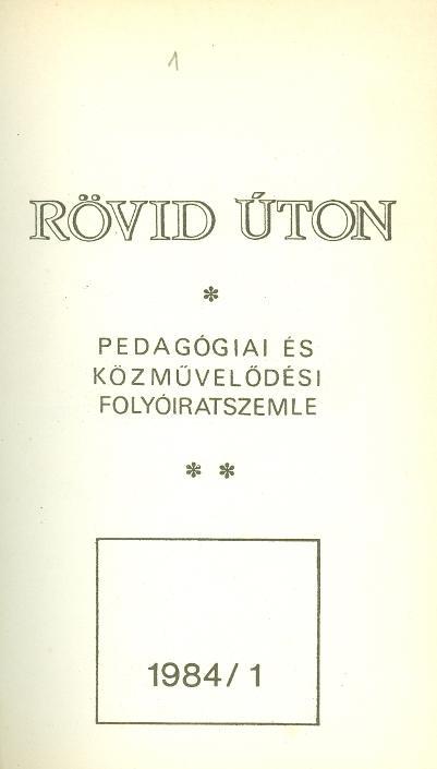Rövid úton - 1984