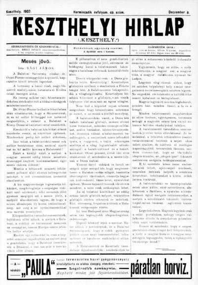 Keszthelyi Hírlap 1907.12.08.