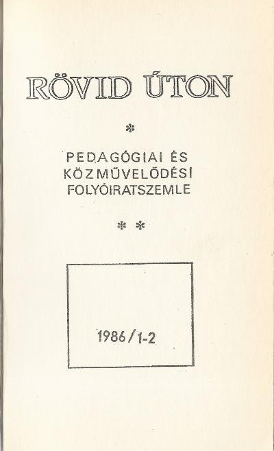 Rövid úton - 1986