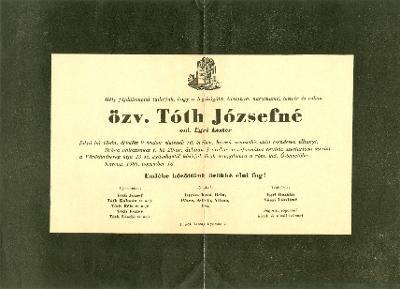 Tóth Józsefné