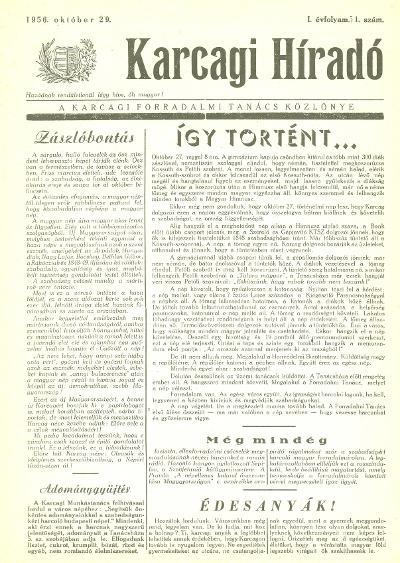 Karcagi Híradó 1956