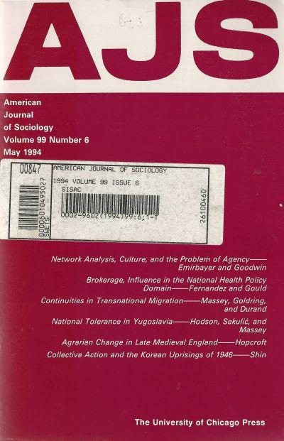American Journal of Sociology 1994. May