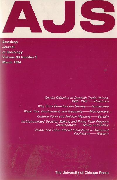 American Journal of Sociology 1994. March