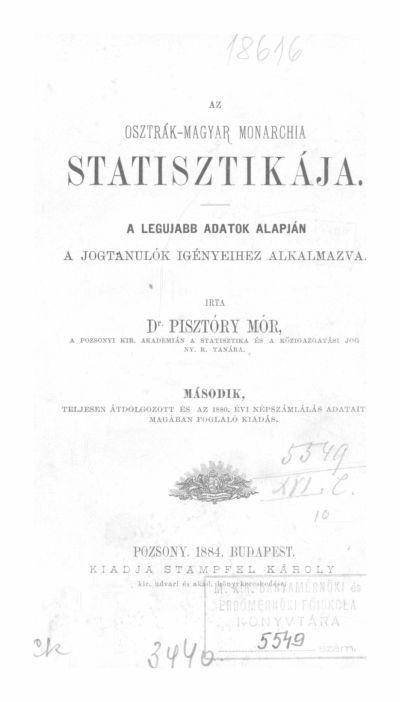 Pisztóry Mór 1884