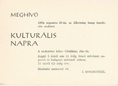 Kulturális nap Cibakházán