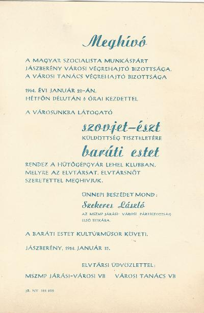 Szovjet-Észt Baráti est