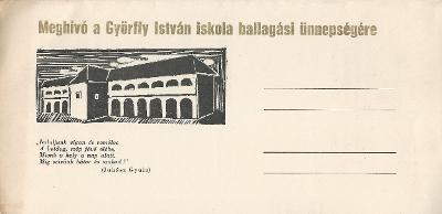 Győrffy István Általános Iskola ballagási meghívója