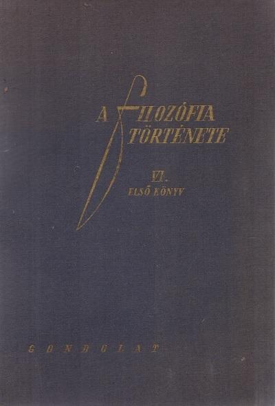 A filozófia története VI. első könyv