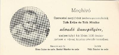 Tóth Éva és Mónika névadó ünnepsége