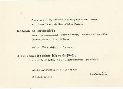 Vajda György: A két német irodalom jelene és jövője