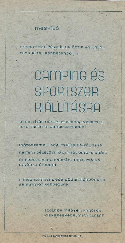 Camping és Sportszer kiállítás