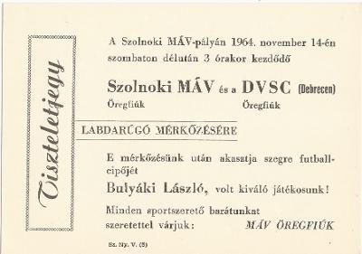 Szolnoki MÁV - Debreceni DVSC labdarúgó mérkőzés