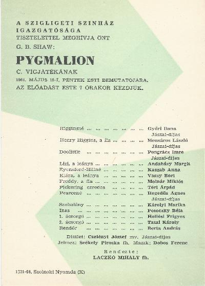G. B. Shaw: Pygmalion