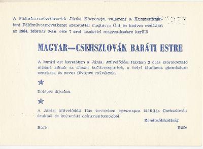 Magyar-Csehszlovák baráti est