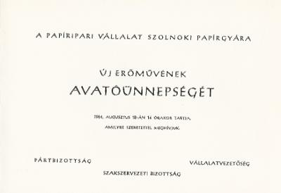 Szolnoki Papírgyár új erőművének avatóünnepsége