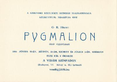George Bernard Shaw: Pygmalion