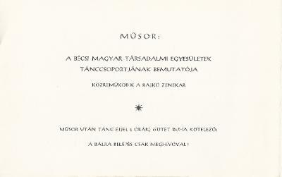 Bécsi Magyar Társadalmi Egyesületek Tánccsoportjának bemutatója