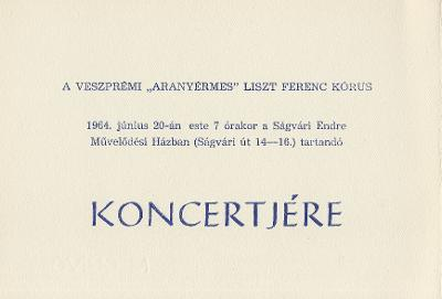 """Veszprémi """"Aranyérmes"""" Liszt Ferenc Kórus koncertje"""